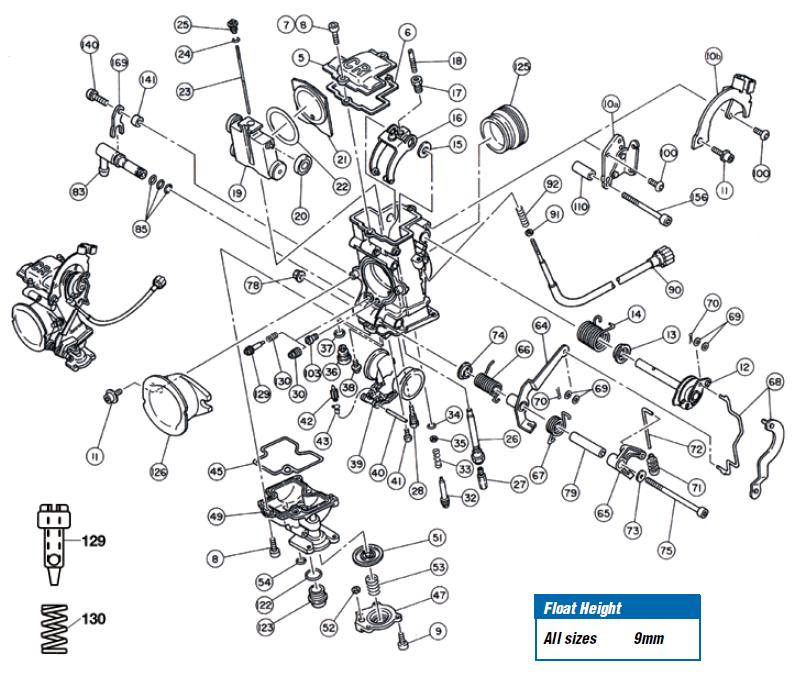 FCR single CARB EXPLODED VIEW